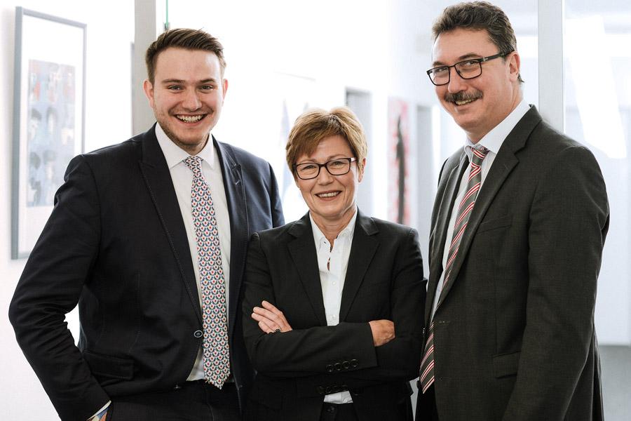 Führungskreis der Nothnagel-Firmengruppe (v.l.n.r.): Maximilian Ellinger, Peter Daunke und Ruth Schöner