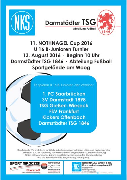 11. NOTHNAGEL-CUP 2016 U16 B-Junioren Fußball Turnier