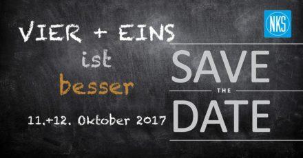 SAVE THE DATE! VIER + EINS ist besser