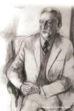 Willy August Nothnagel Zeichnung von Bruno Müller-Linow um 1985