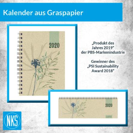 Kalender aus Graspapier